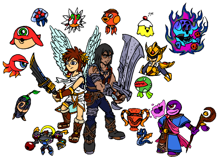 Kid Icarus Sketches by SmashToons
