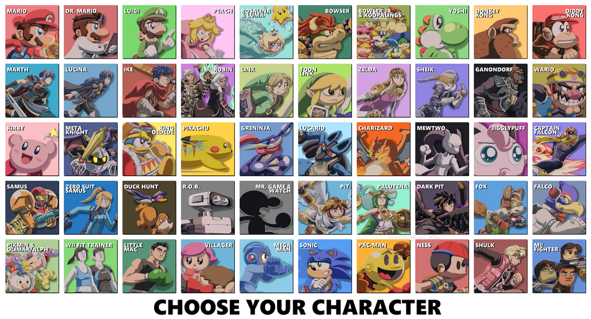 Choose Your Character by SmashToons