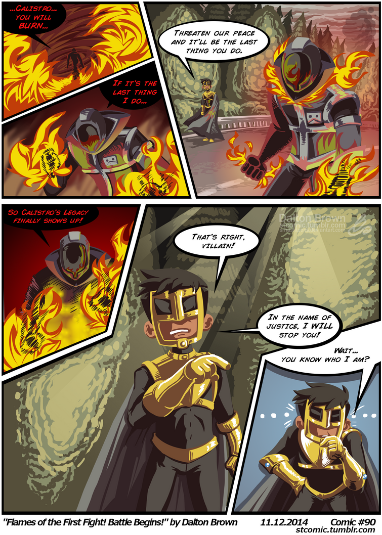 ST#090: Flames of the First Fight! Battle Begins! by SmashToons