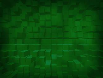 Falling Blocks Green by jaymoon85