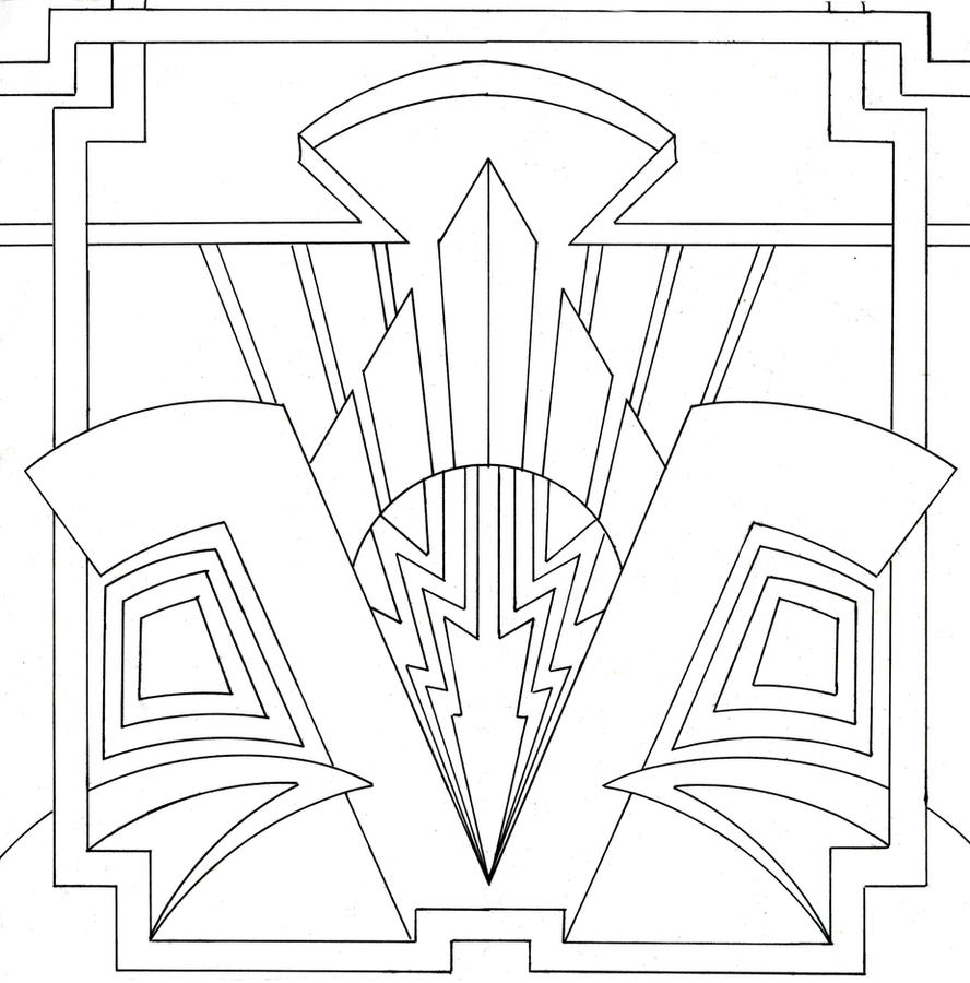 Art Deco Colouring Pages