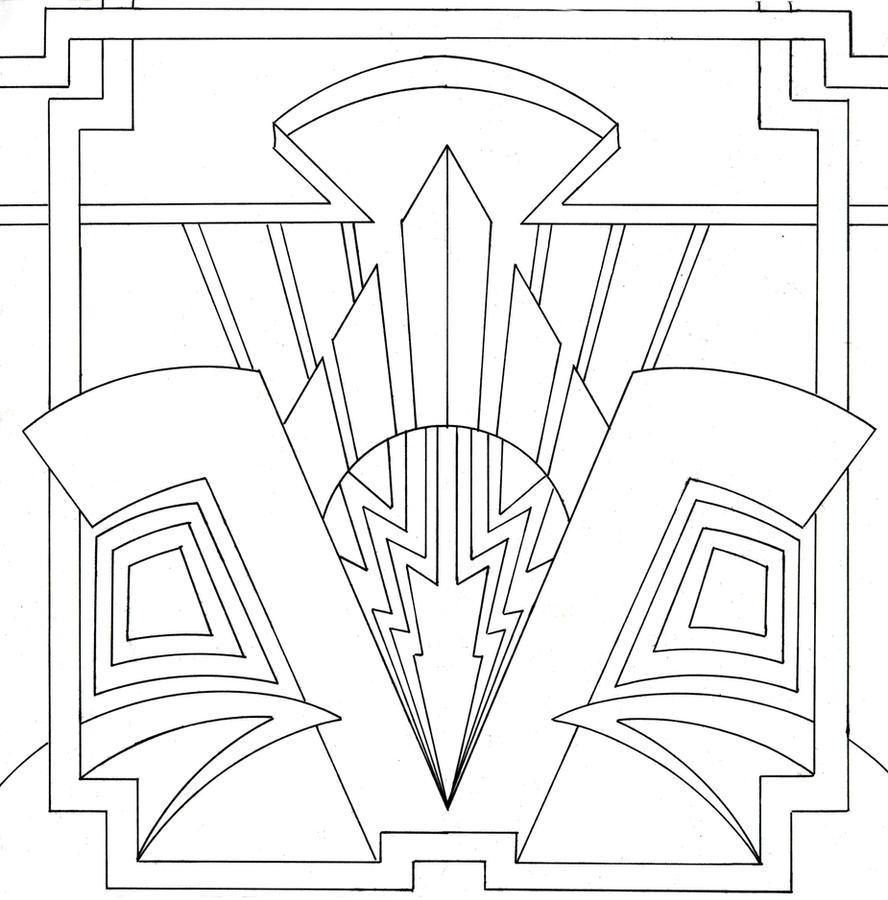 ornamental art deco design by venomkold822 on deviantart. Black Bedroom Furniture Sets. Home Design Ideas