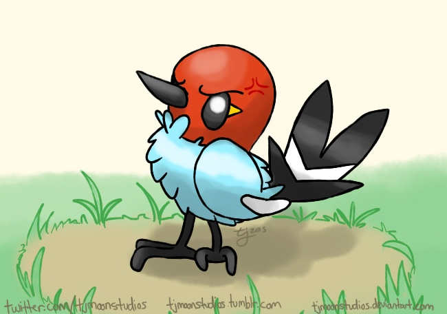 An Angry Fletchling by tjmoonstudios