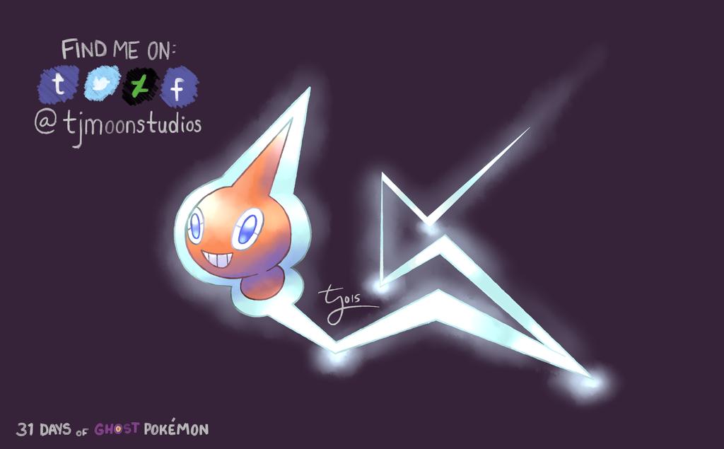 Day 3: Rotom - 31 Days of Ghost Pokemon by tjmoonstudios