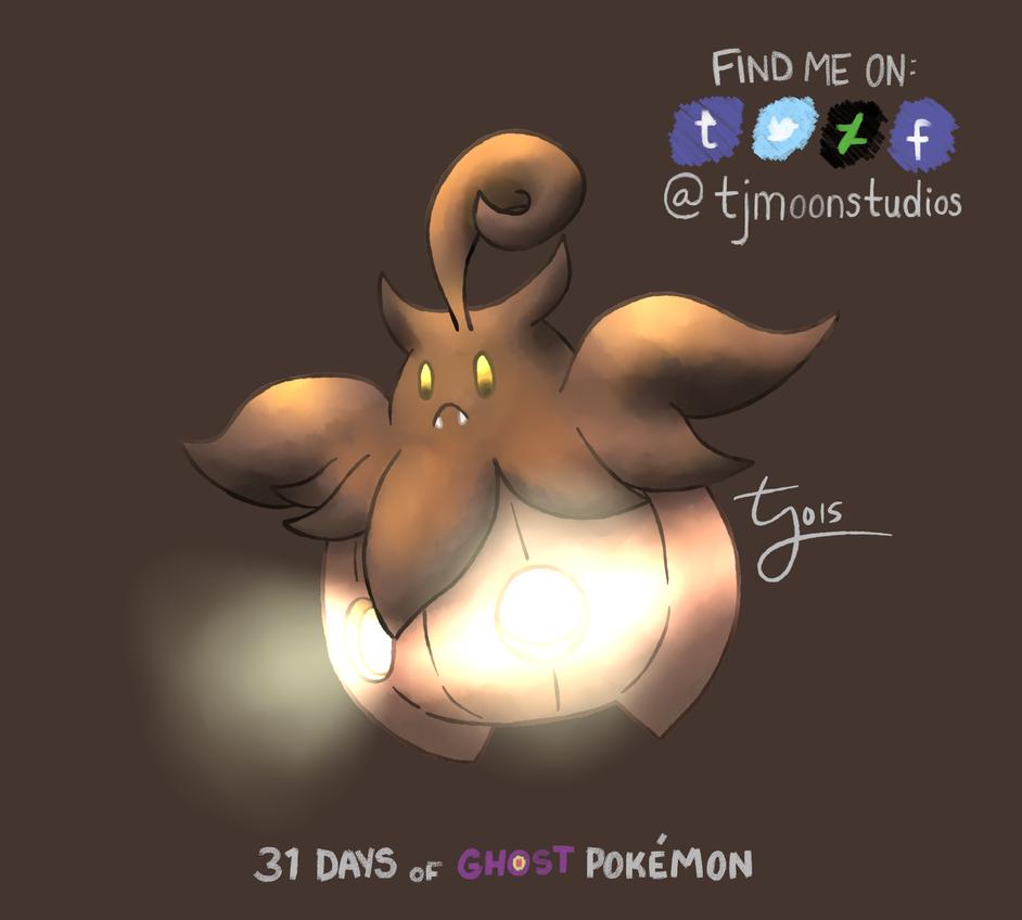 Day 29: Pumpkaboo - 31 Days of Ghost Pokemon by tjmoonstudios