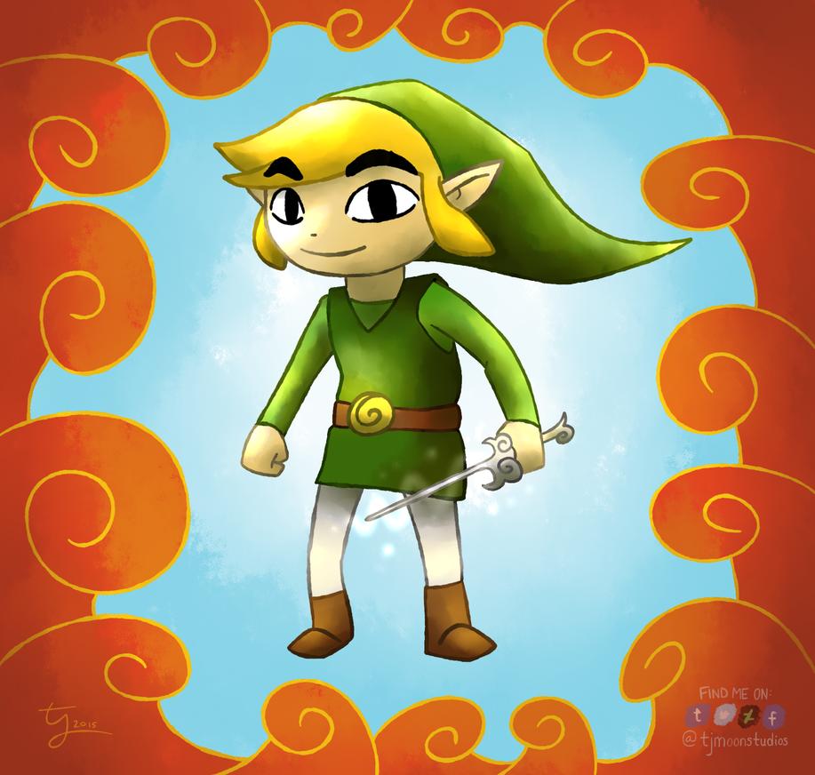 Hero of Winds - Legend of Zelda: The Wind Waker by tjmoonstudios