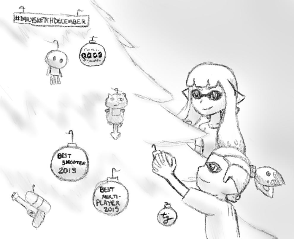 DailySketchDecember Day 4: Splatoon by tjmoonstudios