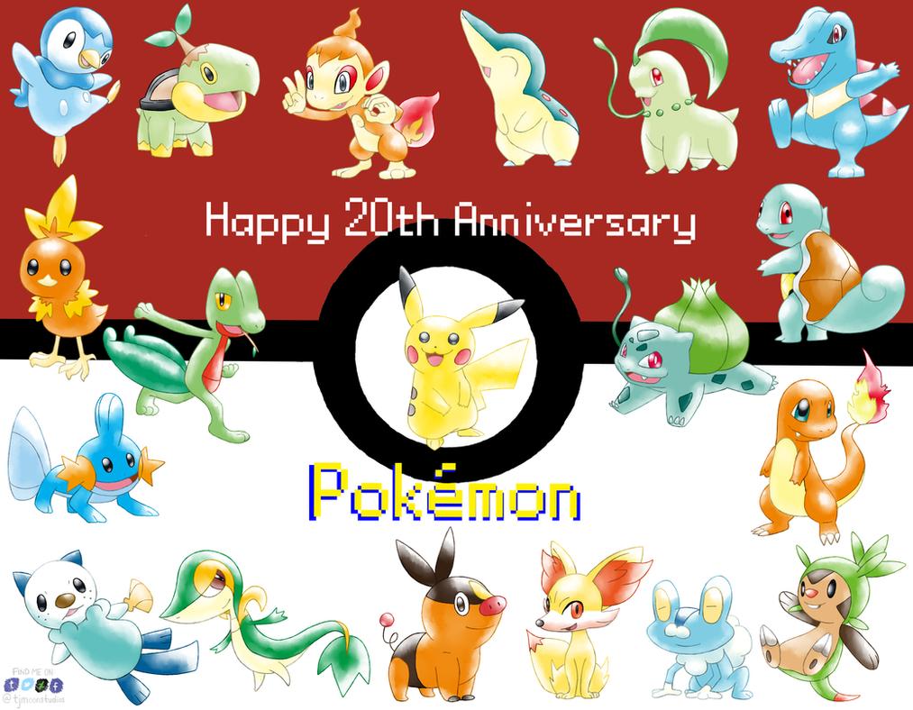 20 Years of Pokemon by tjmoonstudios