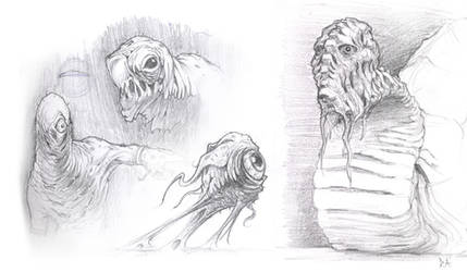 Creature Sketches Oct 08 by ProjectHybrid