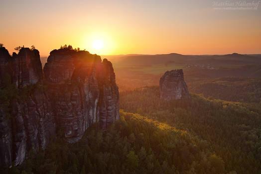 Schrammsteine Sunset