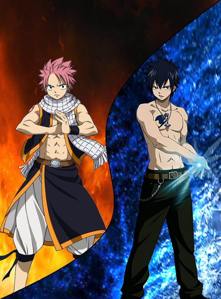Natsu Dragneel and Gray Fullbuster // Fairy Tail by ...  Gray Fullbuster And Natsu Dragneel