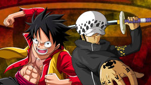 Luffy and Law // One Piece (Wallpaper)