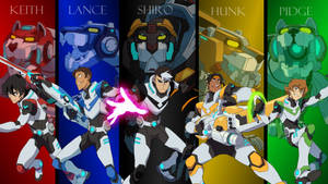 The Five Paladins // Voltron Legendary Defender by Katacaz