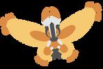 414 Mothim // Minimalistic Pokemon