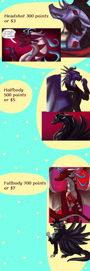 Point Commissions!(OPEN!!!!)