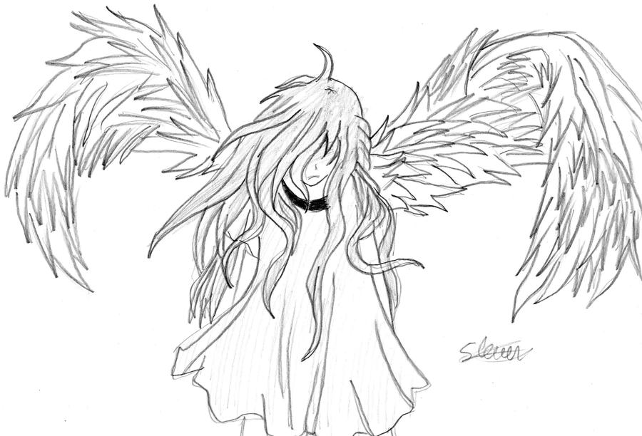 Anime angel by flashtheteddy on deviantart for Anime angel coloring pages