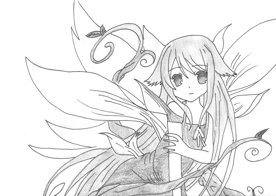 Anime Fairy Drawing Image