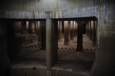 Kasukabe underground flood reservoir system