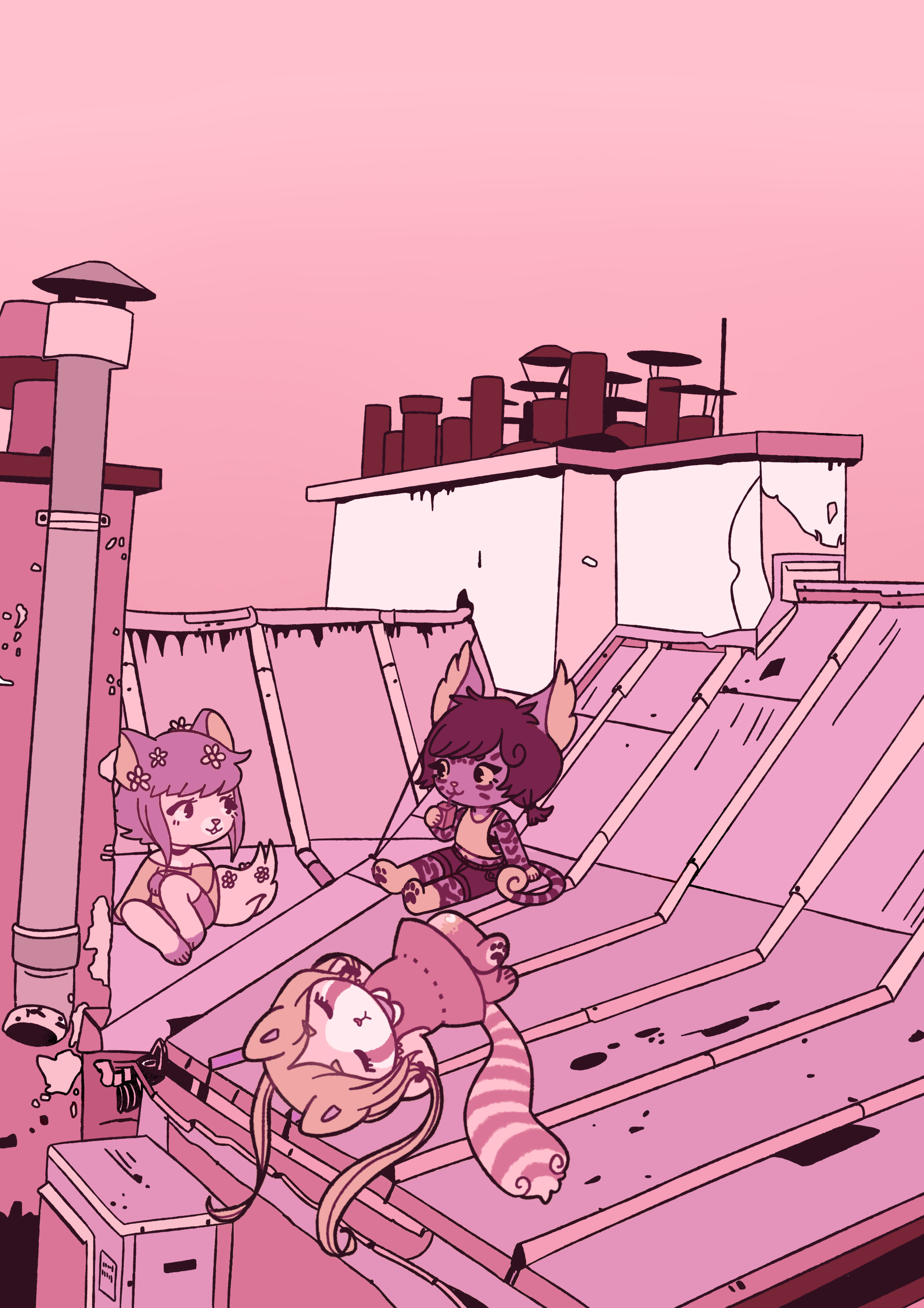rooftop and chill by leaffkun