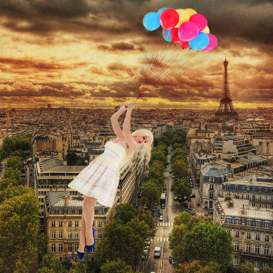 Over Paris by Slimdandy