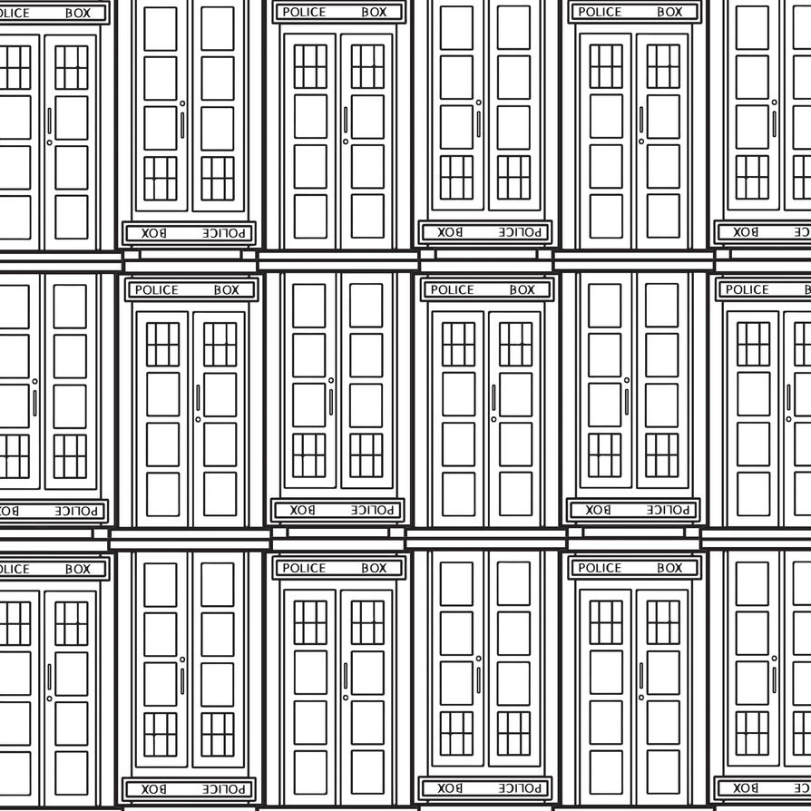 Tardis Pattern (Clean) by spacebutter on deviantART
