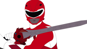 Red Mighty Morphin' Power Ranger by SuperHeroTimeFan