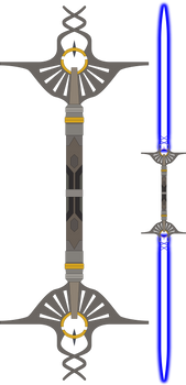 Dorwin Corvax's Double-Bladed Lightsaber