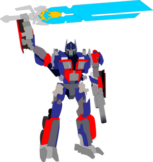 Optimus Prime with the Star Saber