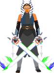 Ahsoka Tano with the Fulcrum Force Keyblades by SuperHeroTimeFan