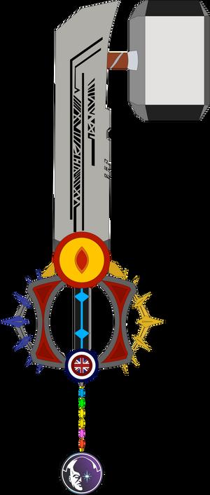 Endless Heroism Custom Keyblade