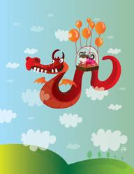 Jinete del dragon de aire by mjdaluz