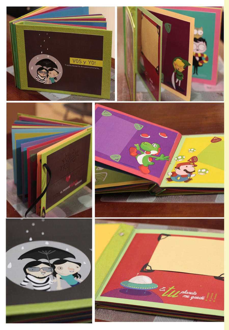 Personalized ilustrated scrapbook album by mjdaluz