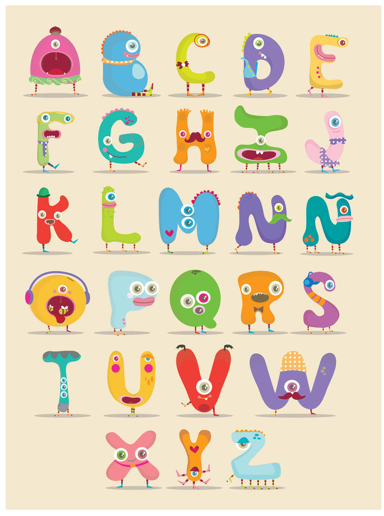 monster alphabet by mjdaluz on deviantart