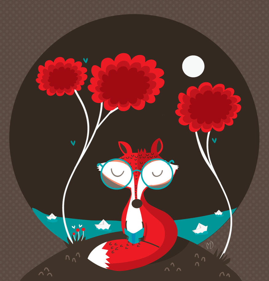 About a red fox by mjdaluz