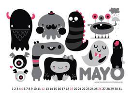 May monster calendar by mjdaluz