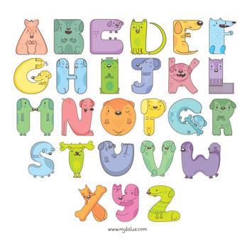 Dog alphabet by mjdaluz