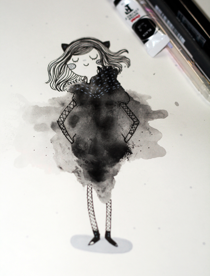 Ink girl by mjdaluz