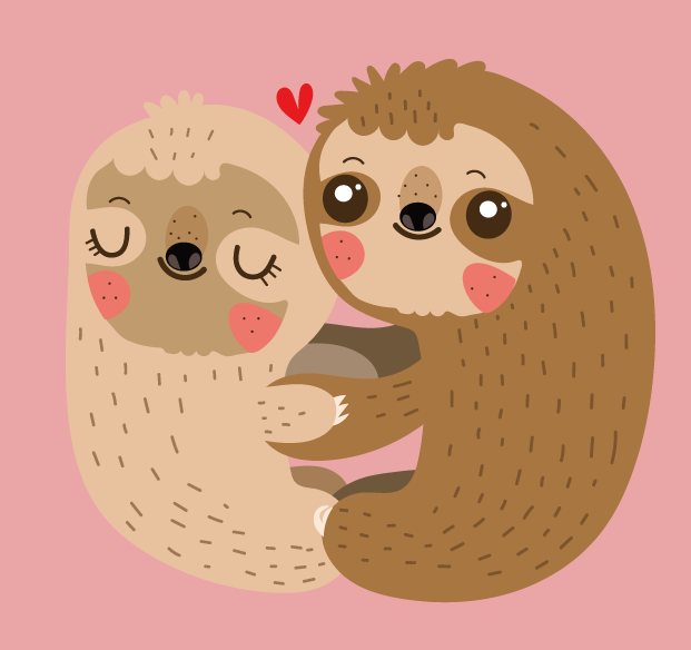 Sloth Love by mjdaluz