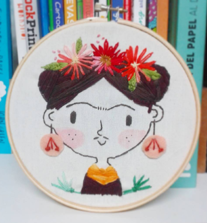 Frida embroidery by mjdaluz