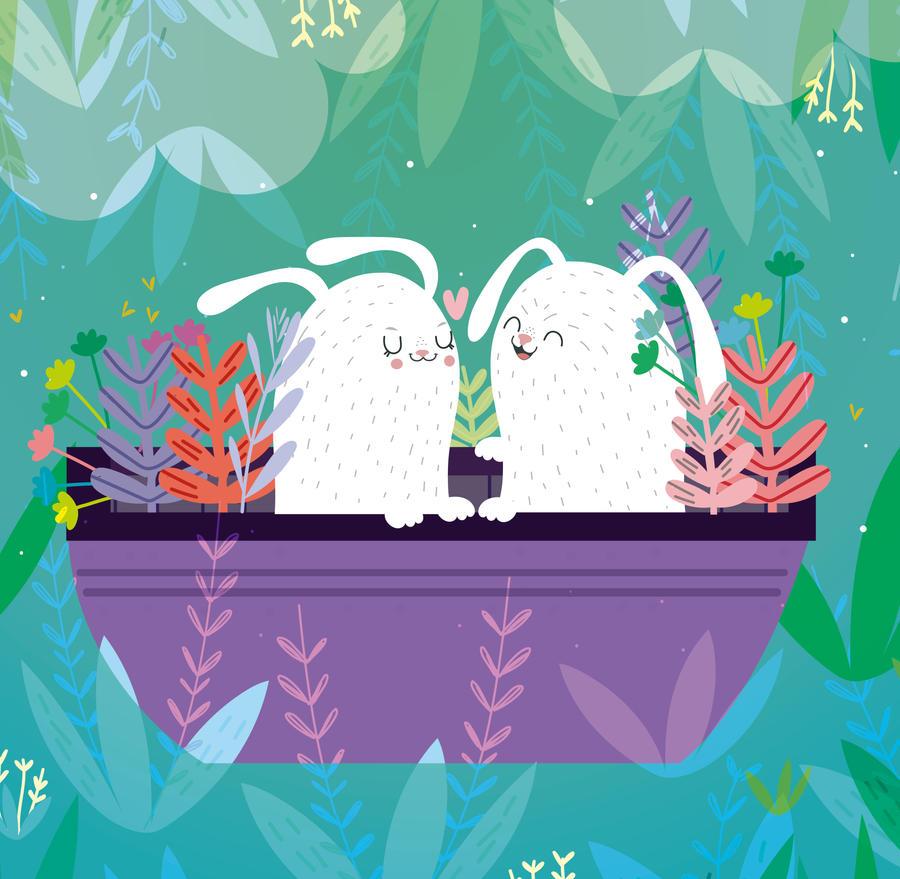 Rabbits in love by mjdaluz