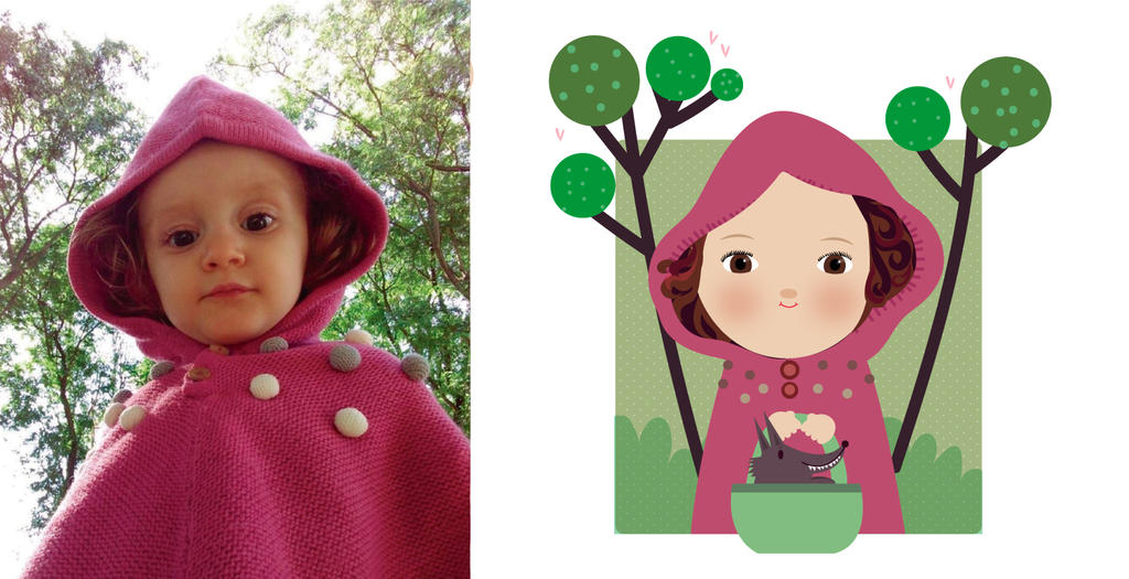 Little pink riding hood by mjdaluz