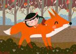 Fox and girl
