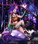 [COMMISSION] Neeko League of legend by Gabrianscar