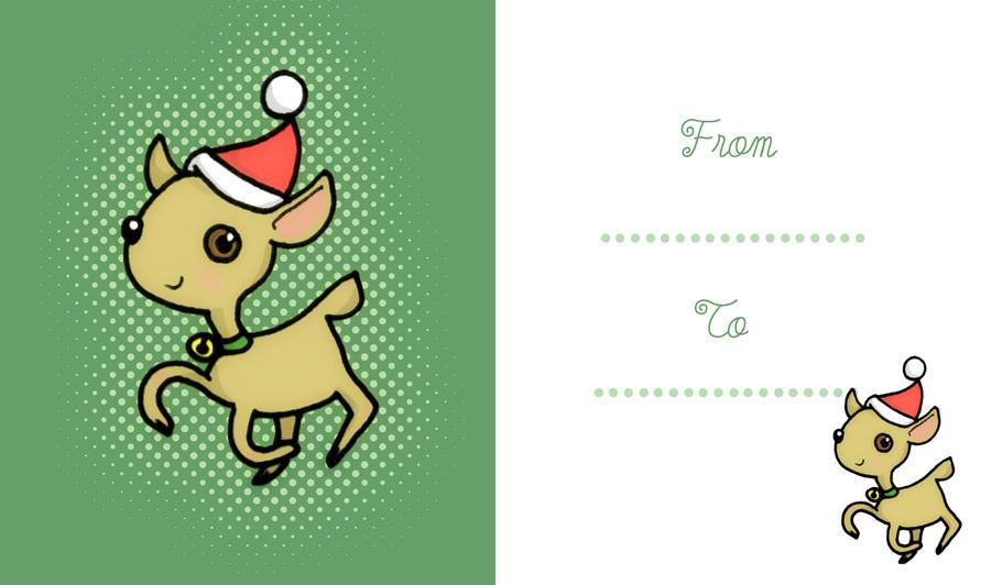Printable Christmas card by marti-c
