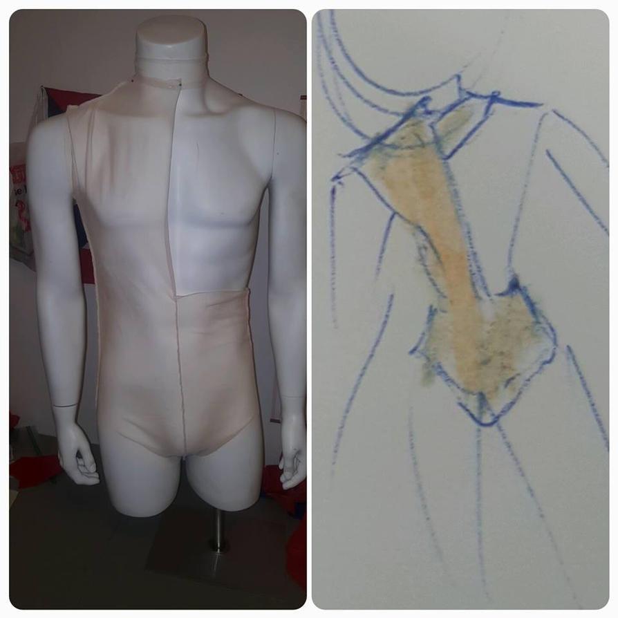 Beige Nude Mesh Costume by Hamham-Chibi