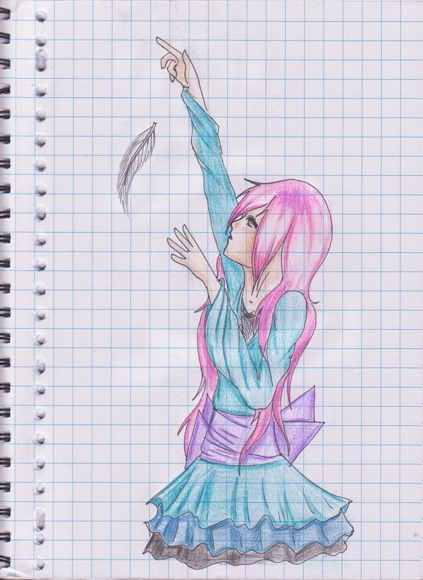 anime girls belts feathers - photo #12