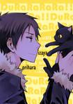 DRRR - Izaya + Cat
