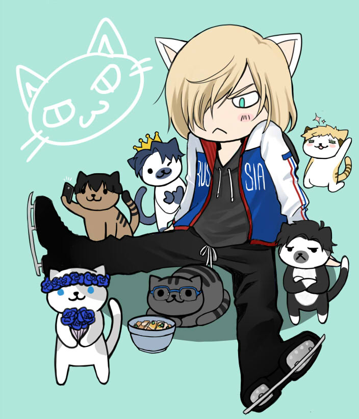 Yuri on Ice - Neko Atsume by kanae