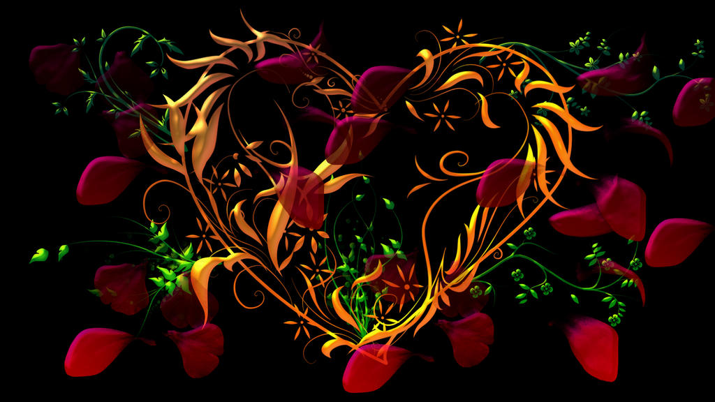 Heart With Flowers by yrod1980