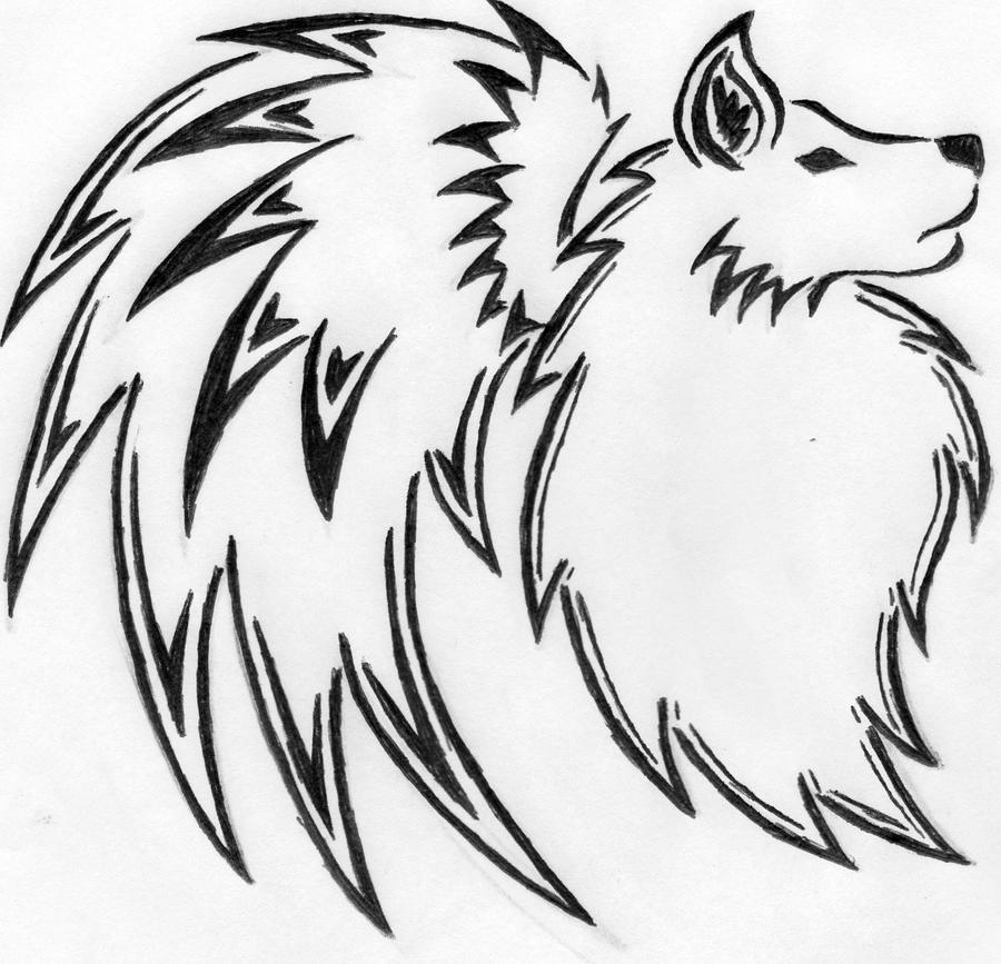 tribal wolf wings by ukivo on DeviantArt